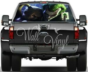 Joker Pick up Truck Perforated Rear Windows Graphic Decal Window Graphic Decal