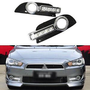 Led Drl Turn Indicator Signal Daytime Running Fog Lights For Mitsubishi Lancer