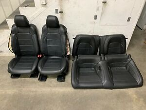 2015 2017 Ford Mustang Gt Black Leather Skinned Front Rear Seats Oem
