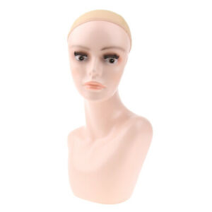 Female Manikin Head Model For Wigs Making Hats Jewelry Scarves Display Stand