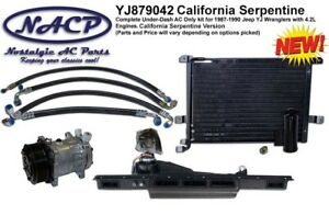 1987 1990 Jeep Wrangler Yj Ac Kit 4 2l Engine California Serpentine Setup