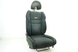 704 Honda Civic Si 2dr 06 11 Front Left Driver Side Seat Black Cloth Red Stitch