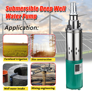 260w Electric Dc 24v Solar Powered Deep Well Water Pump Submersible Hole Pond