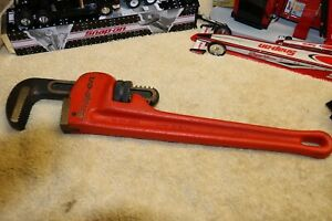 Snap On Tools Pw14c Pipe Wrench 14 Sharp Teeth Made In Usa