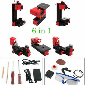 6in1 Micro Lathe Machine Jigsaw Milling Drilling Sanding Wood turning Machine