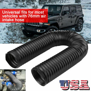 3 Adjustable High Flow Flexible Turbo Cold Air Intake System Hose Pipe Tube Us