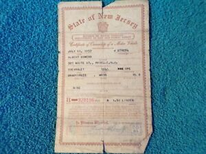 1941 Chevrolet Coupe Historical Paperwork Document Hot Rat Rod Rare Barn Chevy