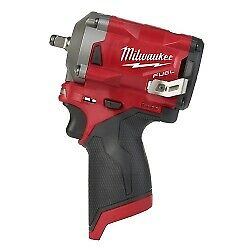 Milwaukee Electric Tools 2554 20 M12 Fuel Stubby 3 8 Impact Wrench Bare Tool