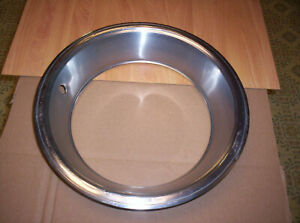 Mopar Rally Wheel Beauty Ring 15 X 7 X 3 Brushed Cuda Challenger
