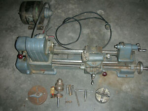 Atlas Craftsman Dunlap 109 6 Inch Lathe Complete With Tooling Fine Used Ship Ups