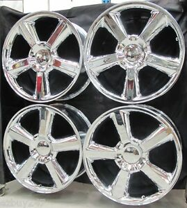 20 New Chevy Gmc Escalade Factory Style New Chrome Wheels Rims 5308 Free Shippi