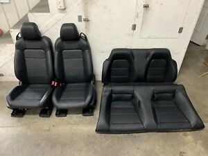 2015 2017 Mustang Gt Black Leather Front Rear Seats Heated Cooled Convertible