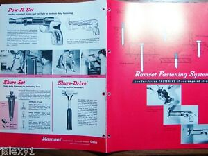 1964 Olin Winchester Ramset Power Fastening Sys Gun For Asbestos Siding Catalog