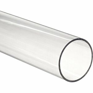 Acrylic Round Tube Clear 1 Id 1 1 2 Od X 48 Length