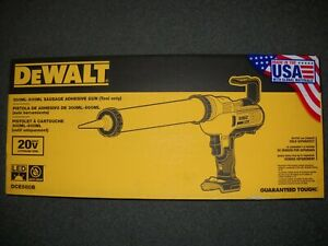 Dewalt Dce580b 20v Max 300 600ml Sausage Pack Adhesive Gun Caulking New