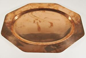 Vintage Jos Heinrichs Paris New York 19 Solid Copper Serving Tray