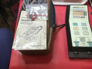 Marlin Thermicator Thermocouple 477 Calibrator indicator Handheld Portable