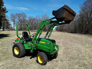 John Deere 855 Mfwd 24 Hp Diesel Tractor And Loader