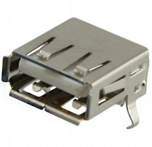 Usb A Receptacle Connector 4 Position Through Hole Right Angle lot Of 100