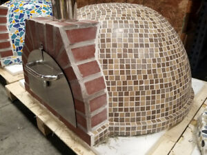 New Outdoor Mosaic Tile Brick Wood fired Wood Coal Burning Pizza Oven Bbq Grill