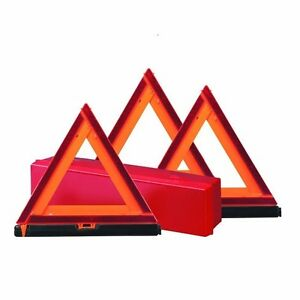 Early Warning Road Safety Triangle Kit Reflective 3 pack Collapsible Design Safe
