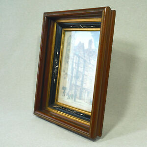 Eastlake Frame Aesthetic Ebonized Incised 3 Fillet 2 Gilded Profile Square Nail
