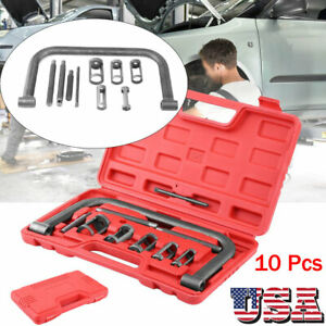 10pc Valve Spring Compressor Kit Removal Installer Tool For Car Van Motorcycle