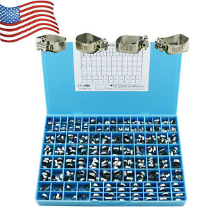 90 Set Dental Orthodontic Bands Roth 0 022 1st Molar Conv Single Buccal Tube Usa