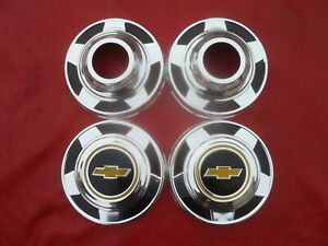 Vintage 1973 82 Chevy 4x4 Truck Dog Dish Poverty Hubcaps Wheel Covers