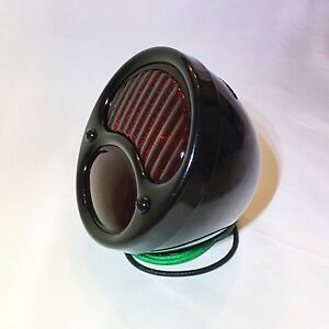 Hot Rod Ford Model A R H Tail Light With Ribbed Lens Black