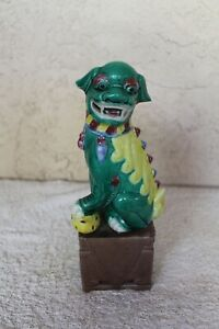 Vtg Chinese Foo Dog Shishi Porcelain Lion Statue Guardian Japanese Komainu 13