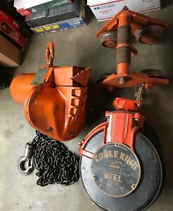 1 Ton Yale Midget King Electric Chain Hoist 440 Volt 3 Phase Made Usa