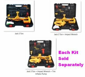 Electric Car Floor Scissor Lift Jack 3ton All N 1 Automatic 12v For Tire Changes