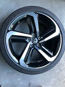 2018 Honda Accord Sport Oem 19 Factory Wheel And Tire Rim Very Good Shape