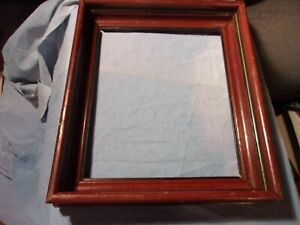 Antique Square Nail Victorian Walnut Deep Frame For 10 By 12 Print