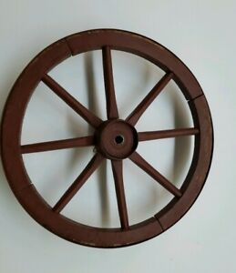 18 In Antique Vintage Wooden Wheel With Iron Strap