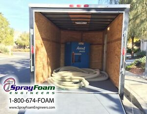 Insulation Blowing Machine W Trailer Package cellulose Fiberglass Used