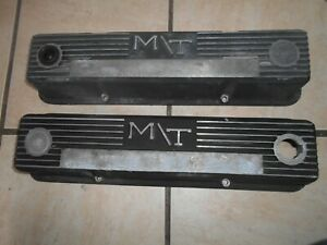 Vintage Mickey Thompson M t Aluminum Valve Covers For Small Block Chevy Sbc 350