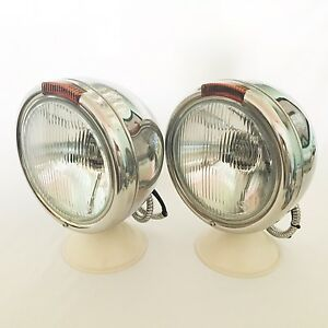 Pol S s Headlamps For Hot Rod Or Peterbilt Truck W Turn Signal 1pr
