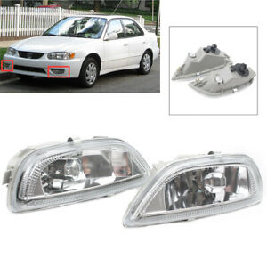 Auto Clear Lens Front Driving Lamps Fog Light Lamp For Toyota Corolla 2001 2002