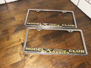 Ford Model A Club Of America Vintage License Plate Frames Accessory Hot Rod