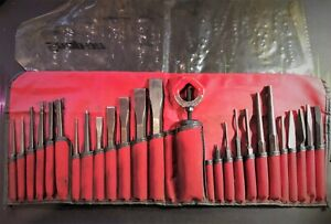 Snap on Tools Ppc270ak 27 Piece Punch And Chisel Set C2700 Kit W roll Pouch Usa