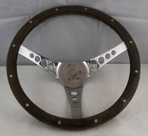 Vintage Superior Performance The 500 13 Wood Rimmed Steering Wheel