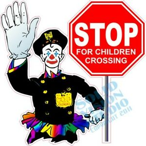 Stop For Children Crossing Safety Concession Trailer Ice Cream Truck Sign Decal