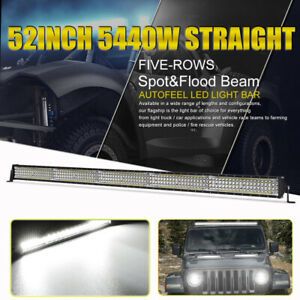 52inch Osram 5440w Led Light Bar Combo Beam For Ford Jeep 4x4wd Super Bright 50