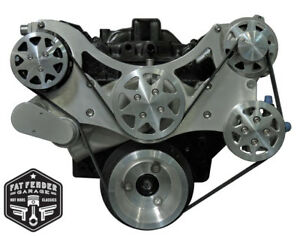 Big Block Chevy Serpentine Kit Raw Machined Billet Aluminum A c Power Steering