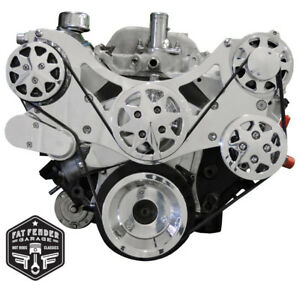 Big Block Chevy Serpentine Kit Polished Billet Aluminum A c And Power Steering