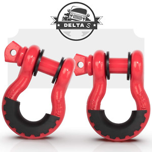 Red D Ring Shackle 3 4 Inch Towing Hook Bow 4 75 For Jeep Atv Truck Rv