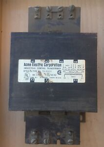 Acme Electric Corporation Industrial Control Transformer Ta 83031 240 480v