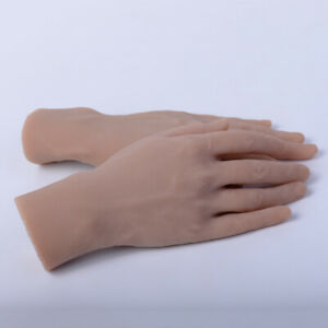 1 Pair Lifesize Men s Model Hands Soft Mannequin Male Glove Rings Display